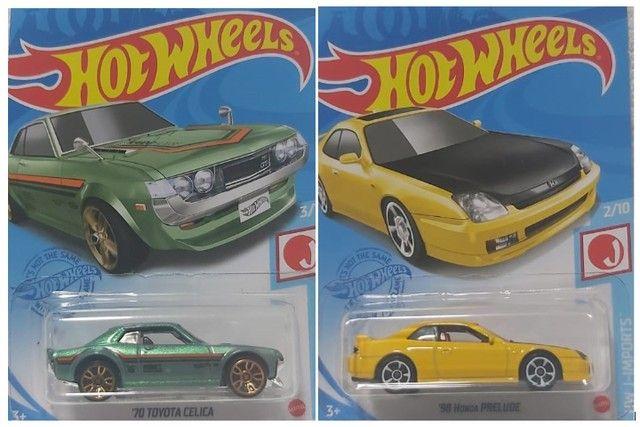 2 Carrinhos Hot Wheels Toyota Celica e Honda Prelude