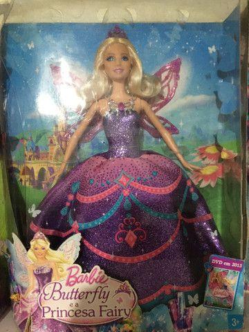 Boneca Barbie butterfly princess Catarina nova - Foto 2