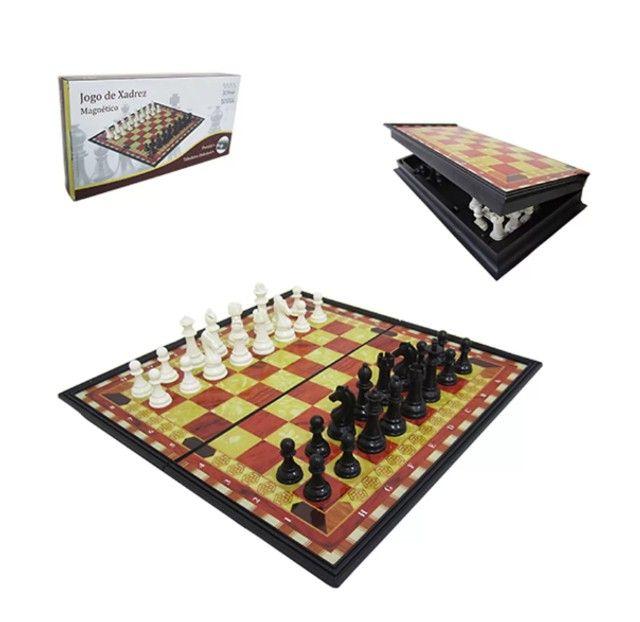 Jogo de xadrez magnético com 32 peças magnético - Foto 2
