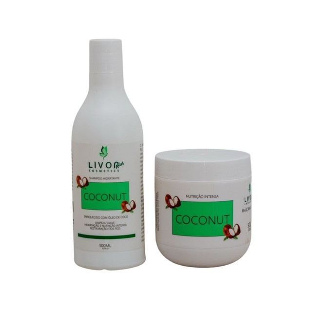 Kit Profissional para tratamento capilar Coconut 500g - Foto 3