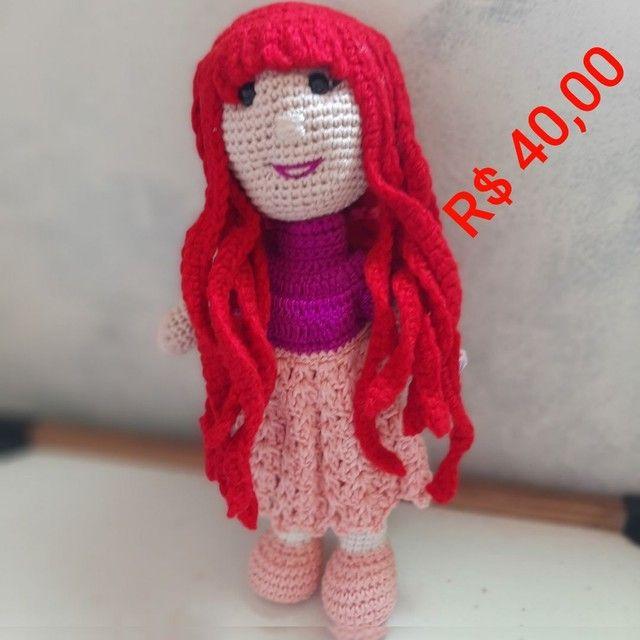 Bonecas em crochê  - Foto 3