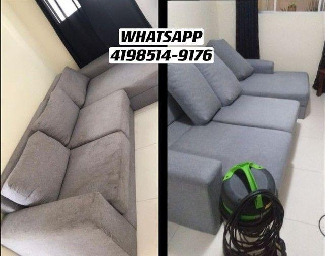 Limpeza e Higienização de estofados Carro Cadeira Sofá Colchão Tapete