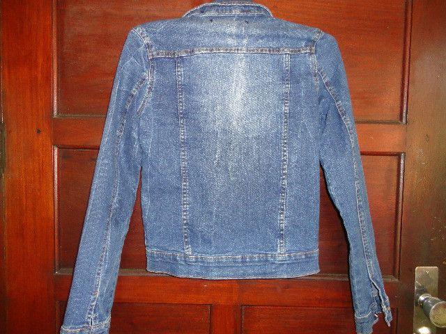 Jaqueta jeans tamanho 16 menina - Foto 2