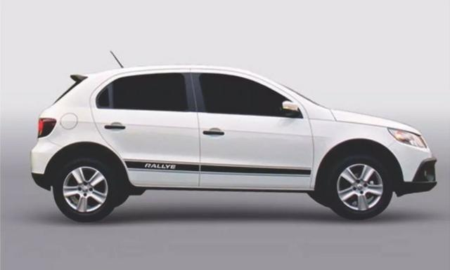 Faixa adesiva p/ VW Gol G5 Rallye 2008 / 2011 Instalada / preta ou prata