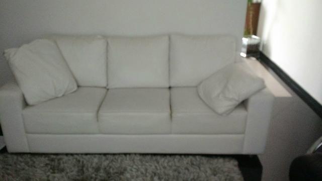 Sofá de Couro Branco com Brinde!!!! - Móveis - Vila ...