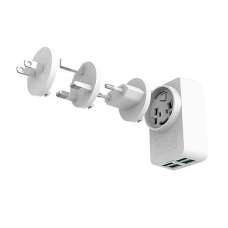 Carregador AC/USB Universal UC-420WH C3T Usb Com 4 Portas 4.2a Carregamento Rapido - Foto 2