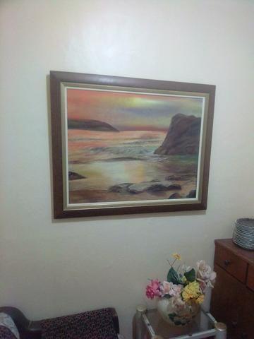 Negocio quadro paisagem pintado a óleo
