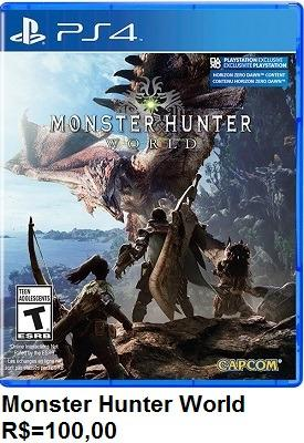 Jogo Monster Hunter World de Ps4