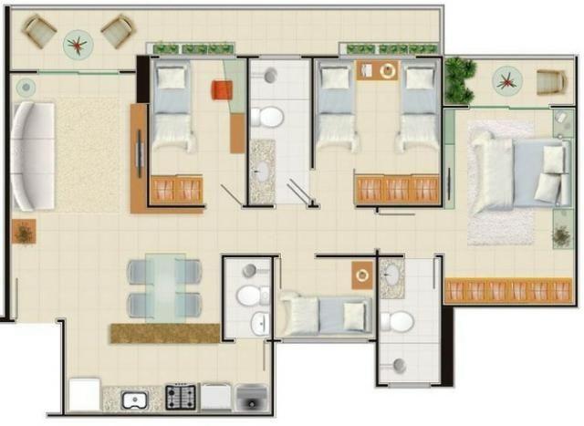 AP0357 - Apartamento 3 quartos, 84m² - Parquelândia - Fortaleza/CE - Foto 10