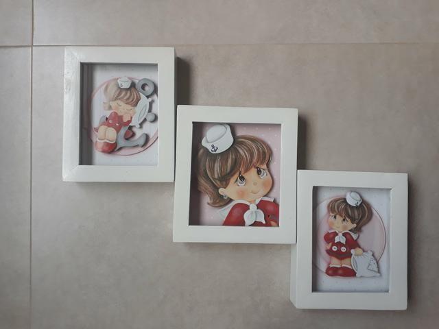 Trio de quadros marinheira - Foto 2