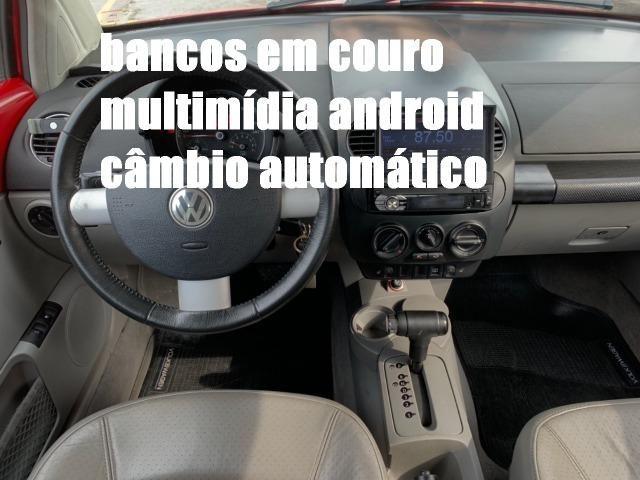 Raridade! New Beetle Aut. 2007 com couro, mídia android e teto solar. Tel: * - Foto 2