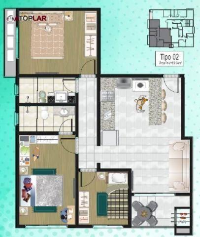 Apartamento com 3 dormitórios para alugar, 70 m² por R$ 2.200/mês - Perequê - Porto Belo/S - Foto 16