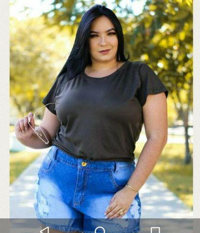 Short jeans plus size - Foto 2