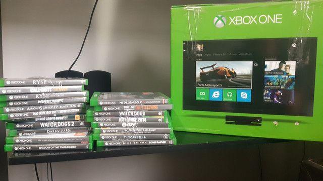 Xbox One Original  +19 jogos + kinect + 2 controles + headphones tudo no original
