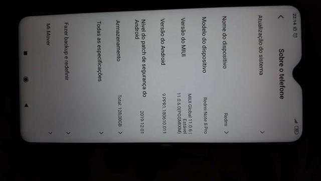 Troco xiaomi 8 pro 128 GB .1 mês de uso em outro celular mas barato - Foto 3