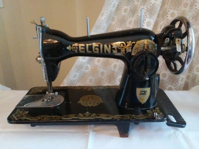 Máquina de costura Elgin antiguidade, relíquia - Foto 2