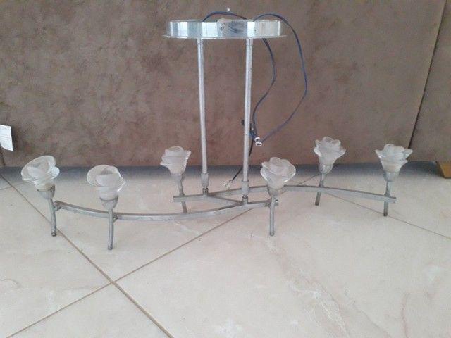 Luminária pendente luxo c/ lâmpadas