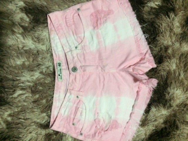 Lindo shorts rosa tam 18,00 - Foto 4