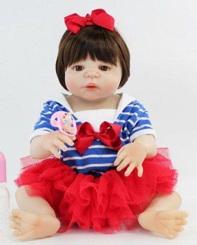 Bebê reborn boneca silicone menina retirada em CG - Foto 2