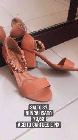 Sandalia saltinho 37/38