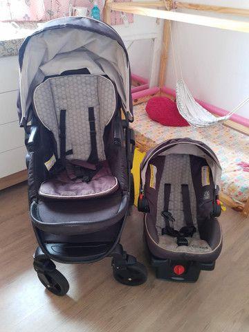 Carrinho + bebê conforto Gracco Click Conect - Foto 3