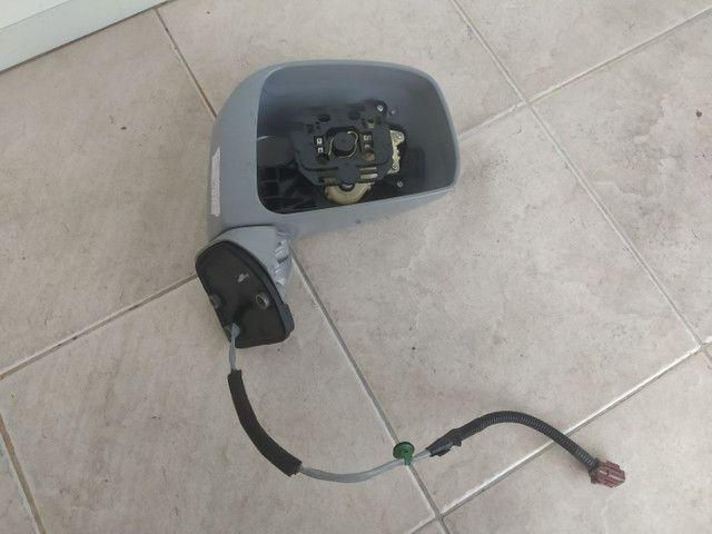 Retrovisor Direito Nissan Tiida sem Lente sem Capa Inferior Original  - Foto 2