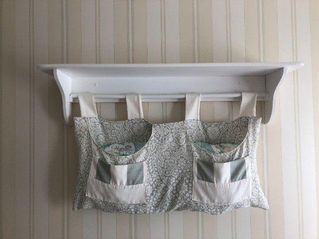 Prateleira porta fraldas branco em excelente estado - Foto 2