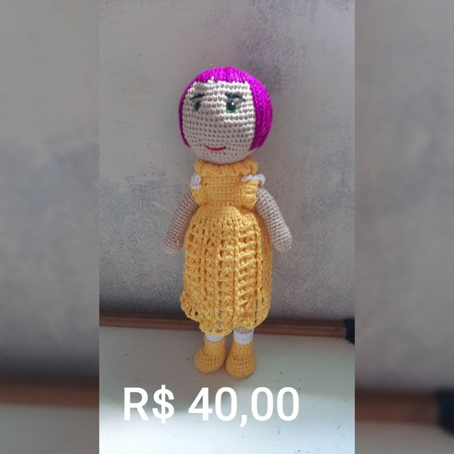 Bonecas em crochê  - Foto 4