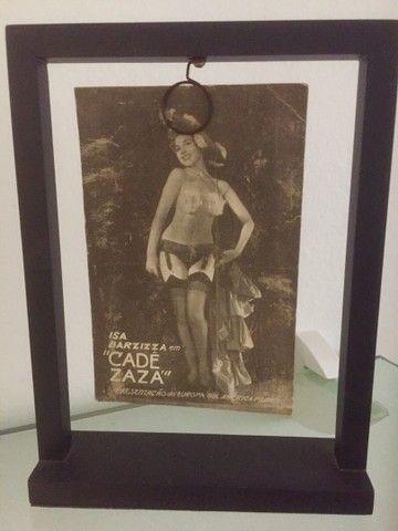 Porta retrato madeira com figuras lendárias do cinema antigo  - Foto 2