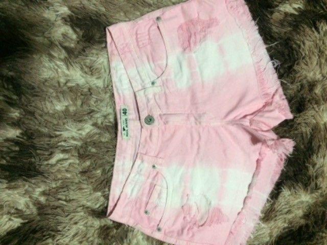 Lindo shorts rosa tam 18,00 - Foto 3
