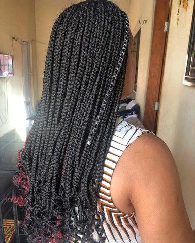 Tranças box braids e nagô  - Foto 4