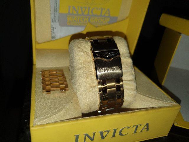 Relógio invicta banhado a ouro 24k Relógio original  - Foto 4