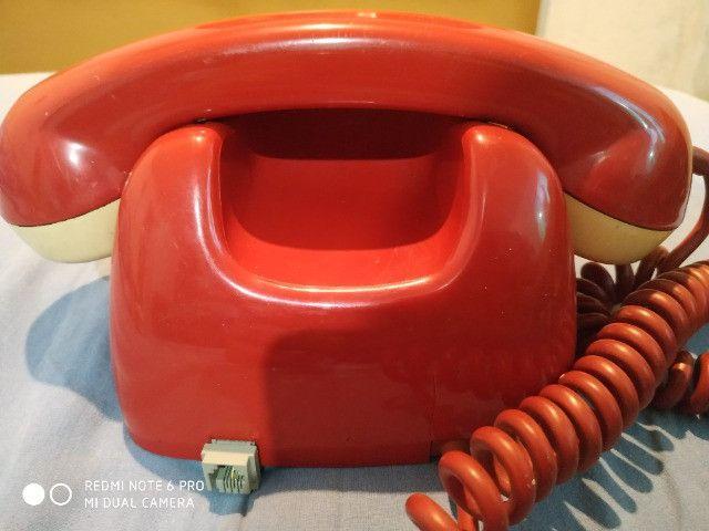 Telefone vermelho vintage - Foto 2
