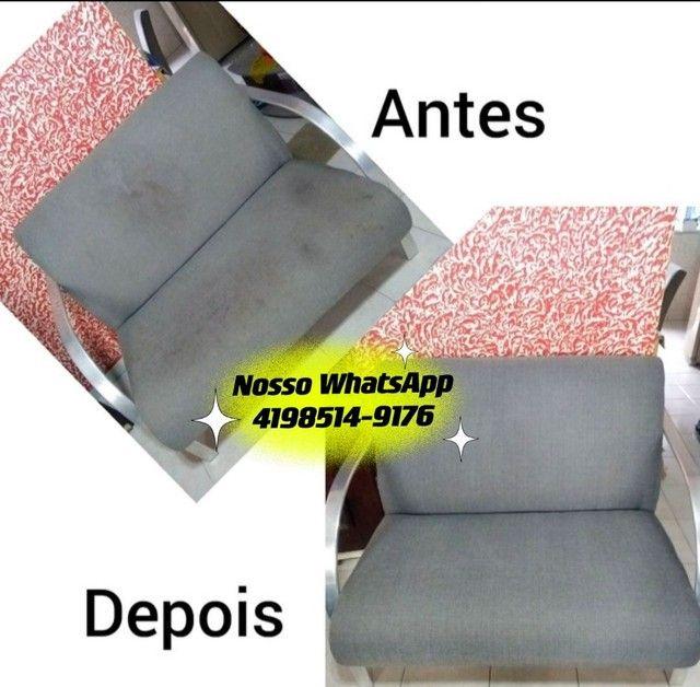 Limpeza e Higienização de estofados Carro Cadeira Sofá Colchão Tapete - Foto 3