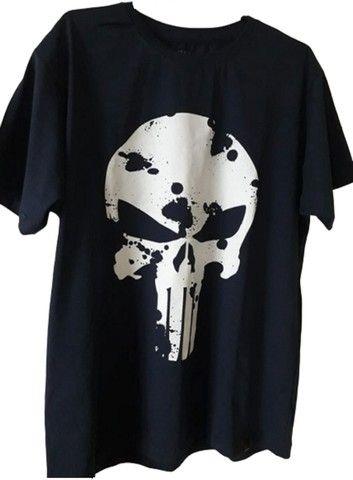 Camiseta Justiceiro Nova. Entrego na ilha ou centro Grátis. Aceito cartão - Foto 5