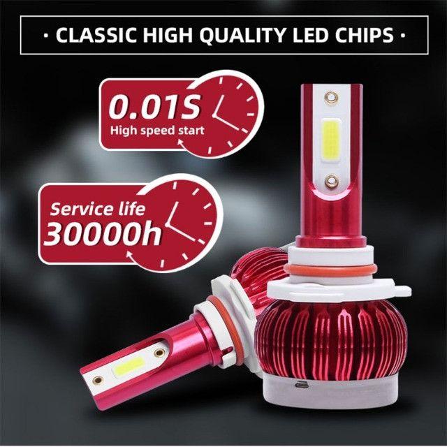 Farol LED Automotivo H4/H1/H11 Lampada Super Led Headlight - Foto 2