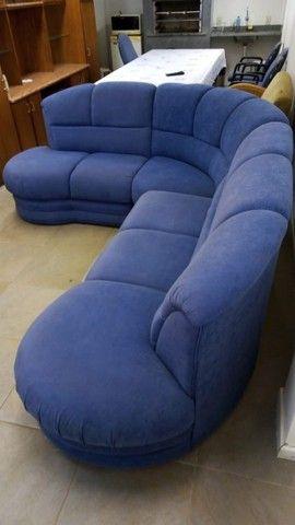 Sofá de Canto Azul - Foto 2