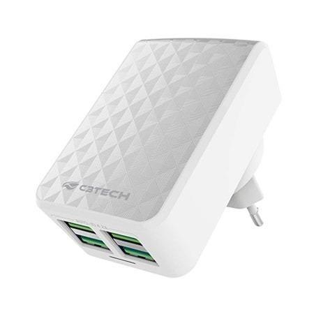 Carregador AC/USB Universal UC-420WH C3T Usb Com 4 Portas 4.2a Carregamento Rapido