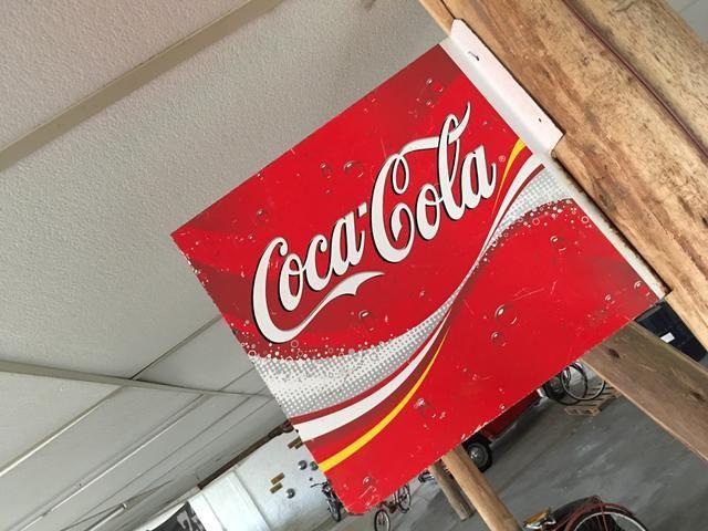 Placa antiga Coca Cola