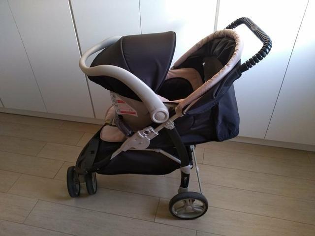 Carrinho de bebê + Bebê Conforto - Foto 4
