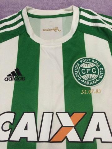 Camisa do Coritiba Jogadeira da Adidas Tam G Usada em jogo da Sulamericana Kleber
