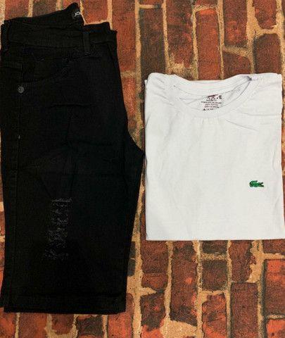 Kit masculino camiseta & bermuda - Foto 3