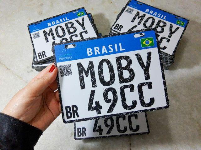Placa Decorativa Moby 49cc - Sem alterações (Leia a descrição por favor)