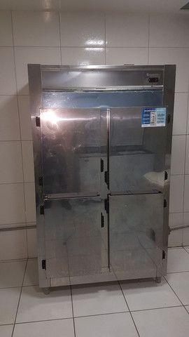 Geladeira/Refrigerador Comercial Inox 4 Portas Cegas GREP-4P Gelopar<br><br>