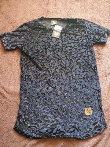 Camisas longline veludo  - Foto 2