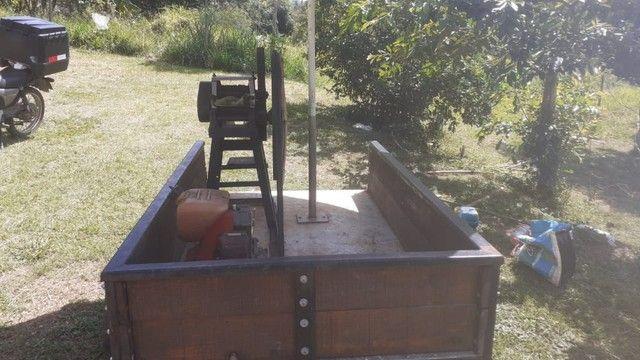 Vendo moinho de cana com motor a gasolina e com carrocinha  - Foto 4