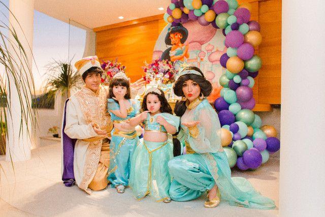 Festa Aladdin princesa Jasmine personagem vivo  - Foto 2
