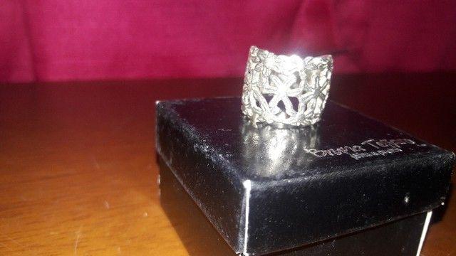Ler descrição + Anéis Prata 925-950 da Prata Fina e Bruna Tessaro - Foto 2