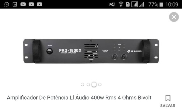 Vendo este amplificador seme novo. - Foto 2