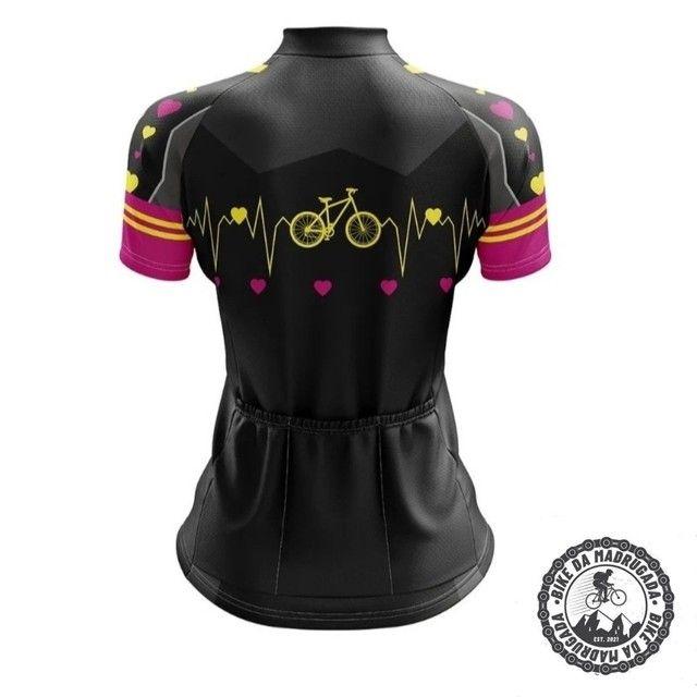 Promoção Camisa feminina Pro Tour ciclismo bike bicicleta dryfit manga curta - Foto 2